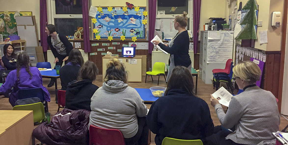A practical class taking place in one of our nurseries
